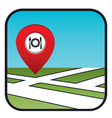 Street map icon with the pointer restaurant vector image vector image
