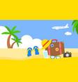 summer vacation summer beach poster vector image vector image
