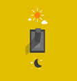 switch lighting day and night vector image vector image