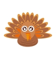 turkey bird thanksgiving icon vector image