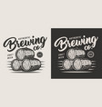 vintage monochrome brewery label vector image