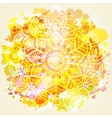 Watercolor card with mandala vector image vector image