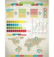 World Map and Charts vector image vector image