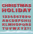 christmas holiday font retro 3d letters vector image
