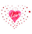 Hand-drawn painted red heart element for y vector image