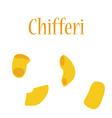 Chifferi pasta vector image