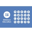 Set of distance learning simple icons vector image