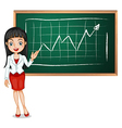 A smart businesswoman reporting vector image vector image