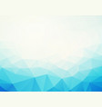 abstract blue low poly background vector image vector image