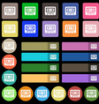 audiocassette icon sign Set from twenty seven vector image vector image