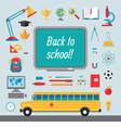 Back to school - set of icons in flat style vector image