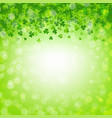 banner with clovers and bokeh vector image vector image