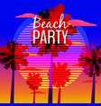 beach party flyer baner invitation tropical vector image vector image