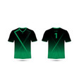 black and green layout sport t-shirt design vector image vector image