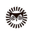 black and white logo of eagle owl emblem design vector image