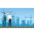 Builder man manager architect and worker on the vector image vector image