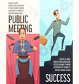 business meeting banners set vector image vector image