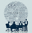 business meeting with icon background vector image