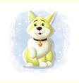 cartoon cute dog eskimo vector image vector image