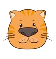 cat face animal cartoon vector image vector image