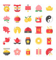 chinese new year flat cute icon 128 px on grid vector image