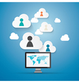 Cloud Computing Working vector image vector image