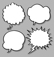 comical bubble speech vector image vector image