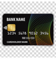 contactless credit card vector image vector image