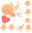 Cupid angels set vector image vector image