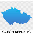 czech republic map in europe continent design vector image vector image