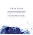 dark blue black grunge watercolor ink texture vector image