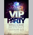disco ball background disco vip party poster vector image