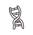 dna doodle cartoon vector image vector image