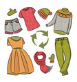 dress recycling global world ecological problem ve vector image