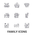 family happieness home fun couple family tree vector image