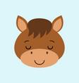 farm animals of cute sleeping horse flat style vector image vector image