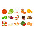 farmers products isometric set vector image vector image