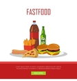 Fast Food Banner Isolated on White Background vector image