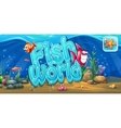 Fish world - horizontal banner icon to the