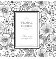 floral frame greeting card flower bouquet vector image vector image