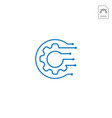 gear logo design abstract business isolated vector image vector image