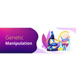 genetic engineering concept banner header vector image vector image