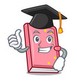 graduation diary character cartoon style vector image vector image