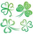 green shamrocks vector image vector image