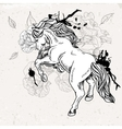 Hand drawn monochrome sketch horse vector image