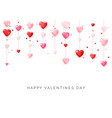 happy saint valentines day card hanging pink and vector image
