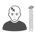 Head Hurt Icon With Bonus vector image vector image