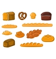 Healthy natural bakery and pastry products vector image vector image
