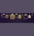 holiday background decoration horizontal banner vector image vector image