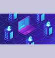 isometric mining farm concept vector image vector image